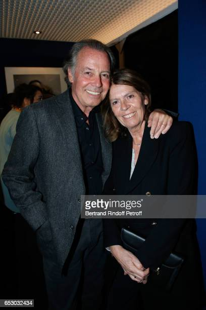 Michel Leeb and his wife Beatrice attend the Chacun sa vie Paris Premiere at Cinema UGC Normandie on March 13 2017 in Paris France