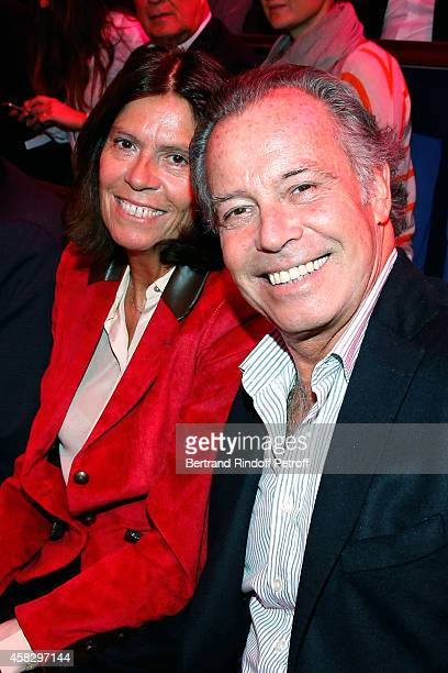 Michel Leeb and his wife Beatrice attend the Final match during day 7 of the BNP Paribas Masters Held at Palais Omnisports de Bercy on November 2...