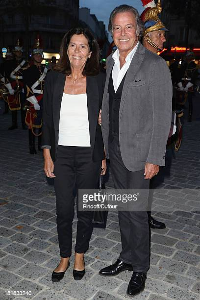 Michel Leeb and his wife Beatrice attend the 'IFRAD' Gala at Cirque D'Hiver In Paris on September 25 2013 in Paris France