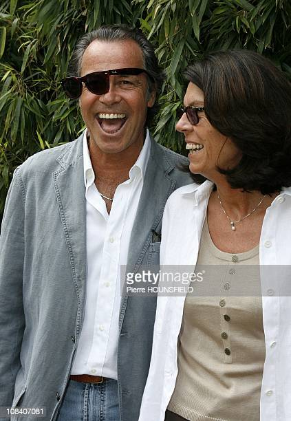 Michel Leeb and his wife Beatrice in Paris France on June 03 2007