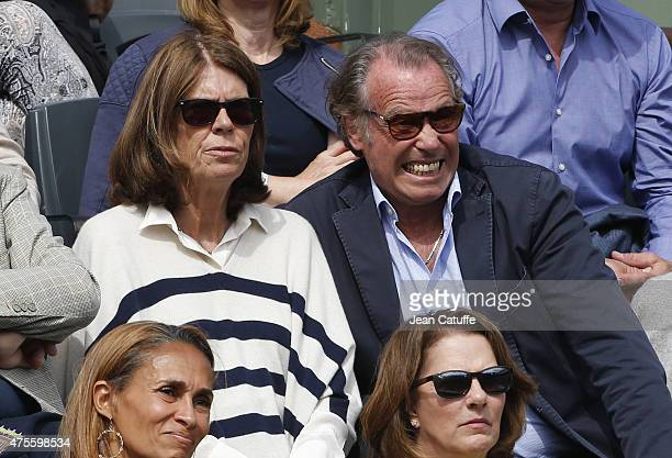 Michel Leeb and his wife Beatrice Leeb attend day 9 of the French Open 2015 at Roland Garros stadium on June 1 2015 in Paris France