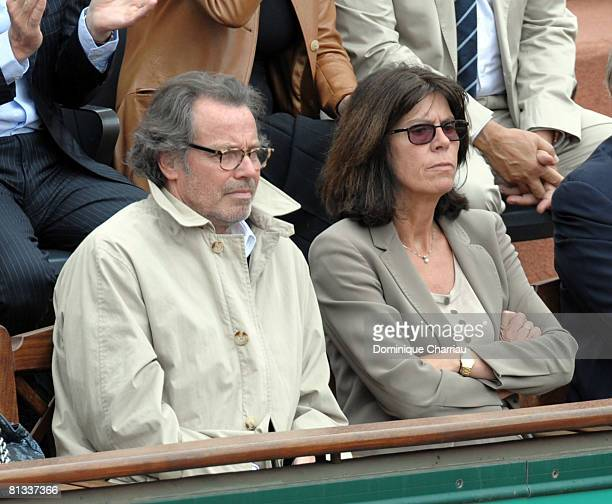 Michel Leeb and wife Beatrice attend the French Open 2008 at Roland Garros on June 02 2008 Paris France