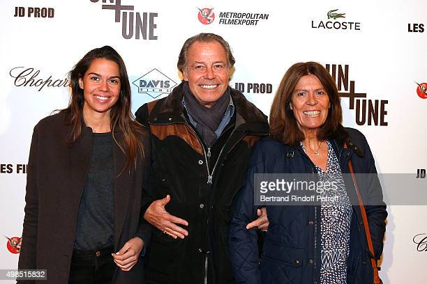 Michel Leeb his Wife Beatrice and his daughter Elsa attend The 'Un Une' Paris Premiere At Cinema UGC Normandie at Cinema UGC Normandie on November 23...
