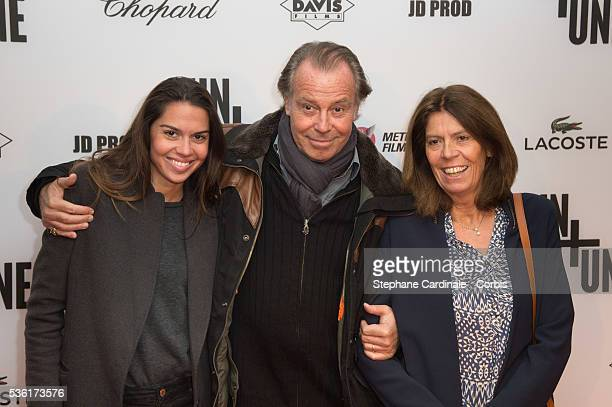 Michel Leeb his Wife Beatrice and their daughter Elsa attend The 'Un Une' Paris Premiere At Cinema UGC Normandie at Cinema UGC Normandie on November...