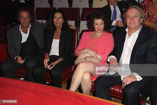 Michel Leeb his wife Beatrice Comedian Anne Roumanoff and her husband Philippe Vaillant attend the 'IFRAD' Gala at Cirque D'Hiver In Paris on...