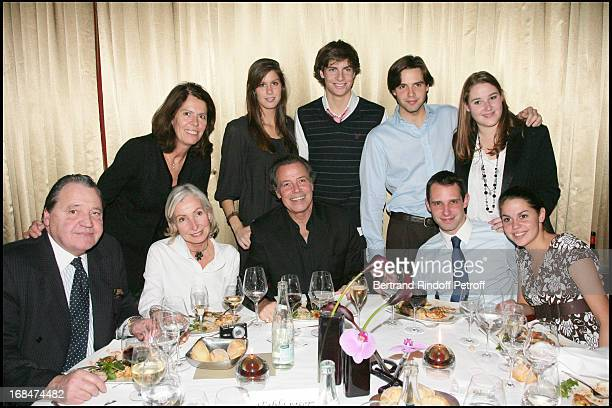 Michel Leeb with sitter Rejeanne and her husband Pierre wife Beatrice with daughter Fanny their son Tom nephews Romain and Mathieu niece Marie and...
