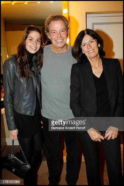 Michel Leeb with with daughter Elsa and Beatrice at The Paris Production Hilarmonic Show By Michel Leeb Accompanied By The Paris Symphonic Orchestra...