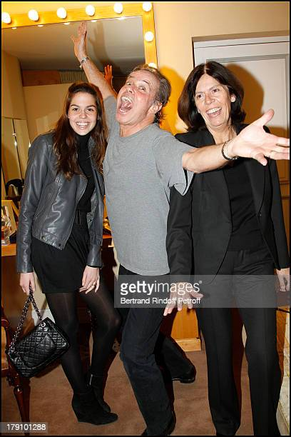 Michel Leeb with with daughter Elsa and wife Beatrice at The Paris Production Hilarmonic Show By Michel Leeb Accompanied By The Paris Symphonic...
