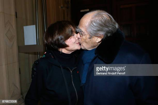 Michel Legrand and his wife Macha Meril attend the Tribute to JeanClaude Brialy for the 10th anniversary of his death Held at Centre National du...
