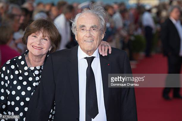 Michel Legrand and Macha Meril attend the closing ceremony of the 29th Cabourg Film Festival on June 13 2015 in Cabourg France