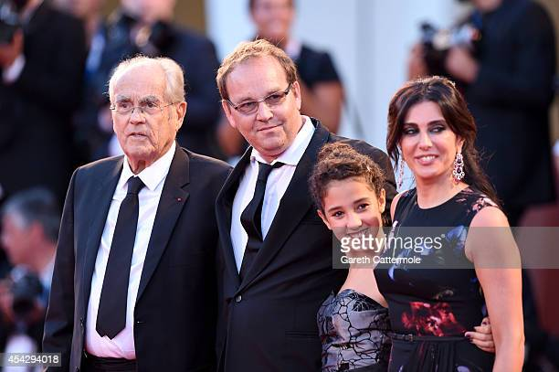 Michel Legrand director Xavier Beauvois Seli Gmach and Nadine Labaki attend the 'La Rancon De La Gloire' premiere during the 71st Venice Film...