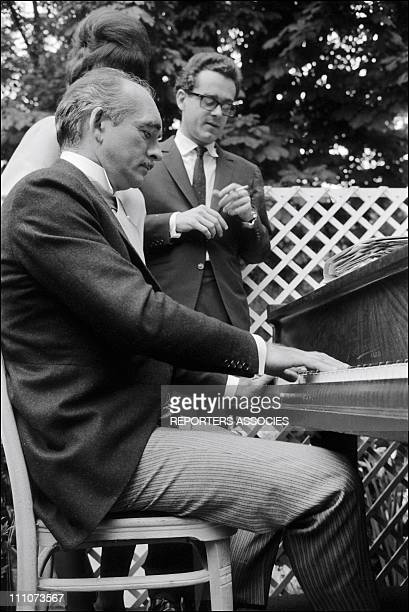 Michel Legrand Eddie Barclay in France on July 01 1965