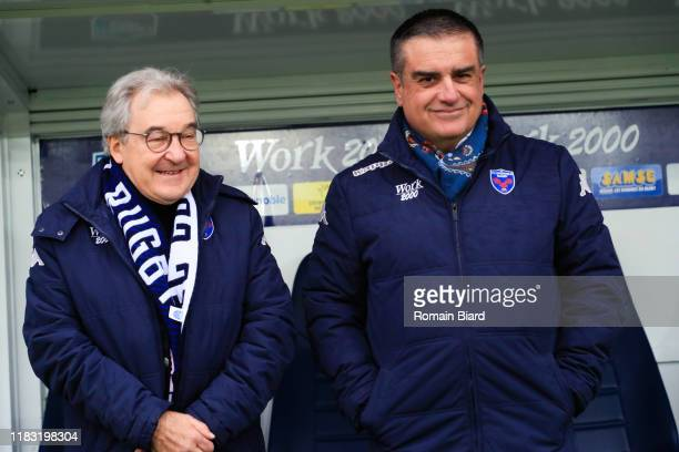 Michel MARTINEZ President of Grenoble during the Pro D2 match between FC Grenoble Rugby and US Montauban on November 17, 2019 in Grenoble, France.