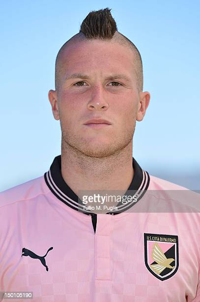 Michel Morganella of US Citta di Palermo poses during a portrait session for the team's official headshots at Campo Tenente Onorato on August 10 2012...