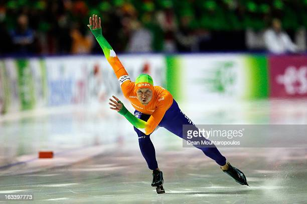 Michel Mulder of Netherlands competes in the 1000m Men Division A race on Day 2 of the Essent ISU World Cup Speed Skating Championships 2013 at...