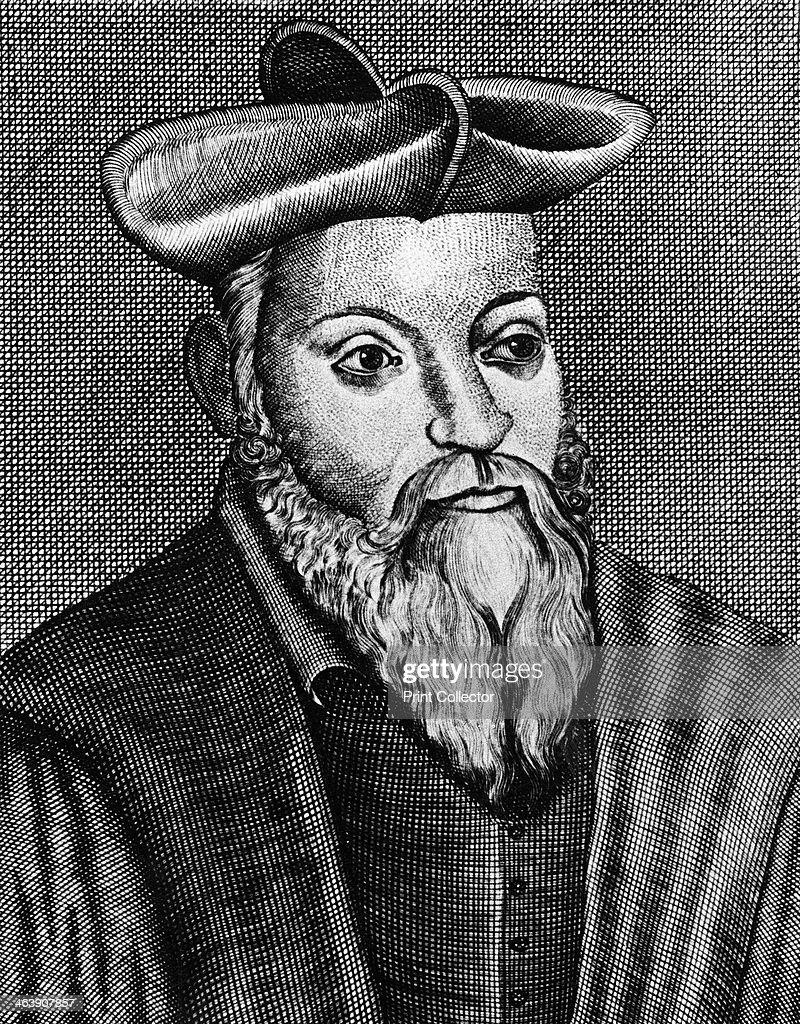 Michel Nostradamus (1503-1556), French physician and astrologer, 17th century. : News Photo