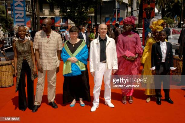 Michel Ocelot director Manu Di Bango and guests during 2005 Cannes Film Festival Kirikou et le fétiche égaré Photocall at Palais De Festival in...