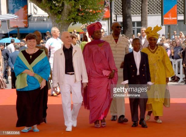 Michel Ocelot director Manu Di Bango and guests during 2005 Cannes Film Festival Kirikou et le fétiche égaré Photocall at Palais De Festival in...