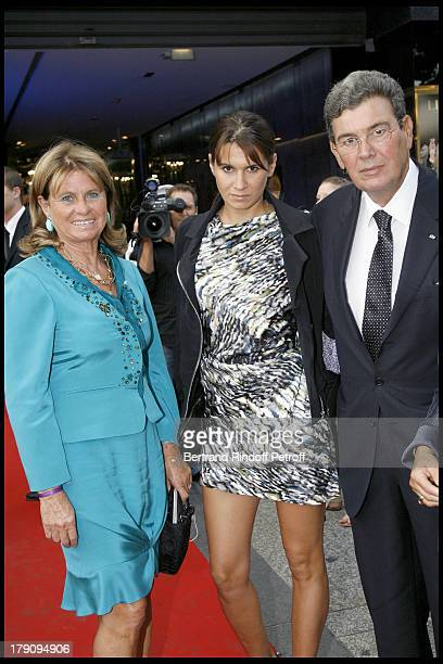 Michel Pastor his wife and daughter Alexandra Smet at L'Affaire Farewell Film Premiere And Charity Dinner To Benefit The Claude Pompidou Foundation