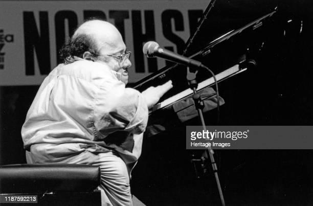 Michel Petrucciani, North Sea Jazz Festival, The Hague, Netherlands, 1998. Artist Brian Foskett.