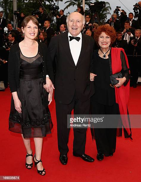 Michel Piccoli and Andrea Ferreol attend the 'Jimmy P ' Premiere during the 66th Annual Cannes Film Festival at the Palais des Festivals on May 18...