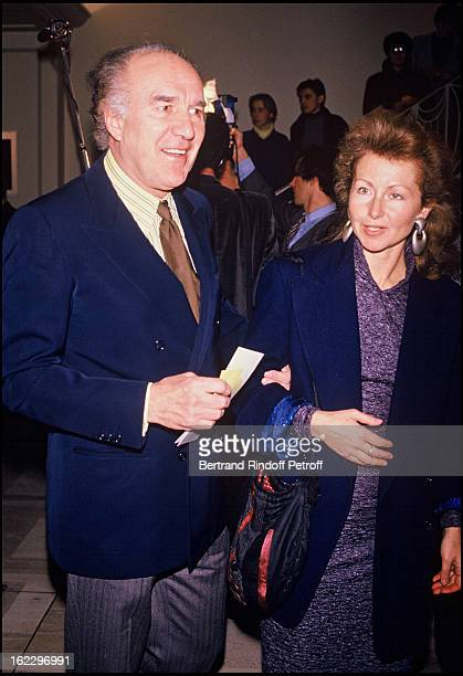 "Michel Piccoli and his wife Ludivine Clerc at the ""Kean"" gala, Paris."