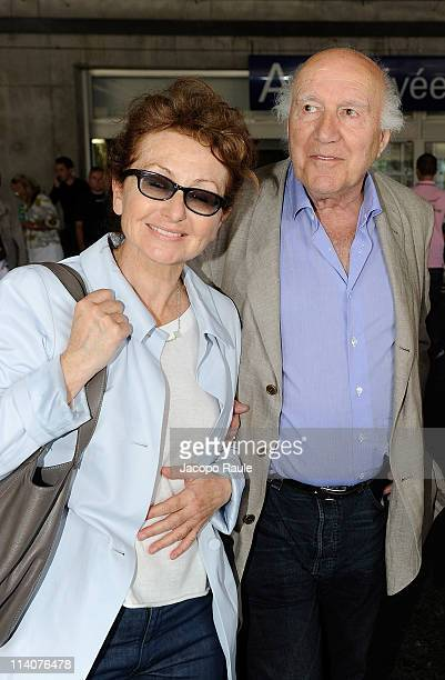 Michel Piccoli and his wife Ludivine Clerc on May 11, 2011 in Nice, France.