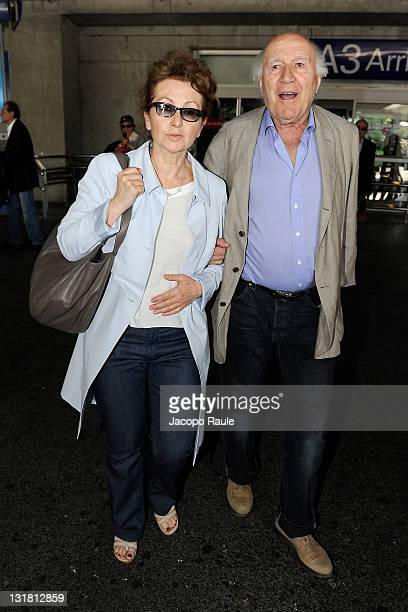 Michel Piccoli and his wife Ludivine Clerc on May 11 2011 in Nice France
