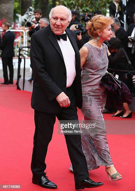 """Michel Piccoli and Ludivine Clerc attend the """"Saint Laurent"""" premiere during the 67th Annual Cannes Film Festival on May 17, 2014 in Cannes, France."""