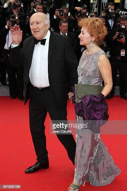 Michel Piccoli and Ludivine Clerc attend the 'Saint Laurent' premiere during the 67th Annual Cannes Film Festival on May 17 2014 in Cannes France