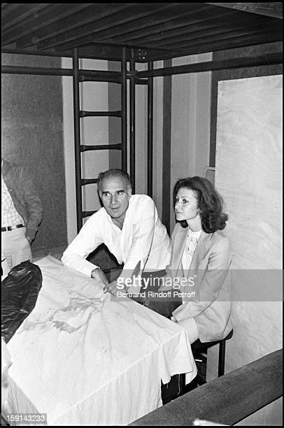 Michel Piccoli and wife Ludivine Clerc.