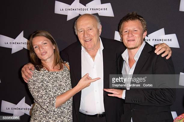 Michel Piccoli with his daughter Missia and his son Inord attend the Retrospective of Michel Piccoli at La Cinematheque in Paris