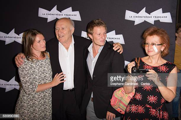 Michel Piccoli with his Wife Ludivine Clerc and their sons Missia and Inord attend the Retrospective of Michel Piccoli at La Cinematheque in Paris