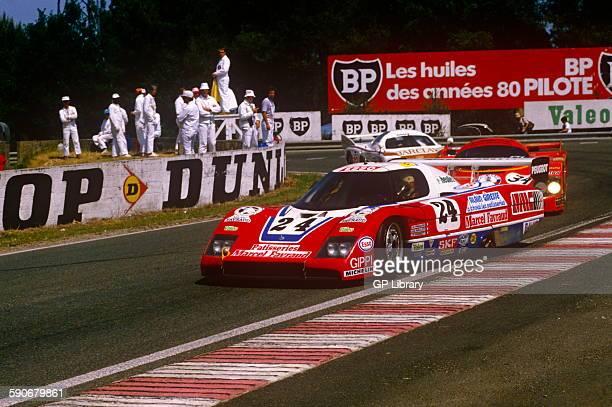 Michel Pignard JeanDaniel Raulet and Pascal Pessiot WM P83B At Mulsanne Corner Le Mans 17 June 1984