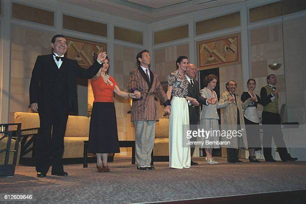 Michel Pilorge Annick Alane Stephane Freiss Anne Brochet Michel Piccoli Laurence Kelepikis Pascal Ternisien Sylvie Flepp and Michel Cremades on stage...