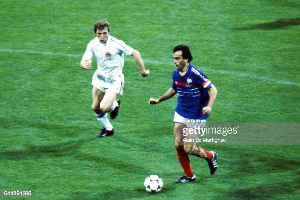 Michel Platini France / Yougoslavie Euro 1984 Saint Etienne Photo Alain de Martignac / Icon Sport