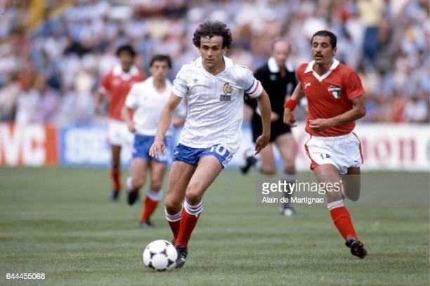 Michel PLATINI Koweit / France Coupe du Monde 1982 Stade Jose Zorrilla Valladolid Photo Alain de Martignac / Icon Sport