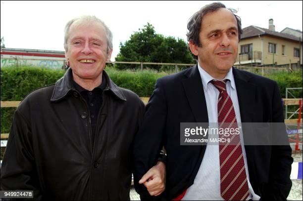 Michel Platini actuellement vicepresident de la FFF il est elu membre executif a l'UEFA et representant de l'UEFA a la FIFA ici en compagnie de son...