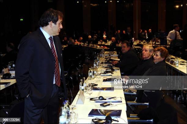 Michel Platini and his fathers Aldo and Anna Platini