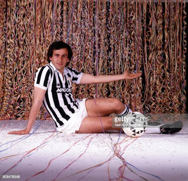 Michel Platini during the Photoshoot in Turin Italy on 1st December 1983