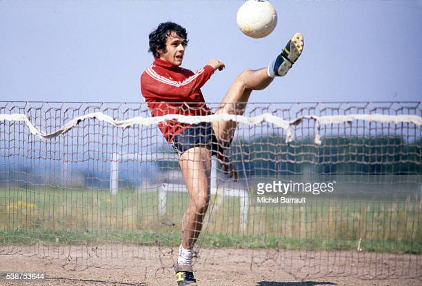 Michel Platini during the training session of Nancy on 20th July 1978