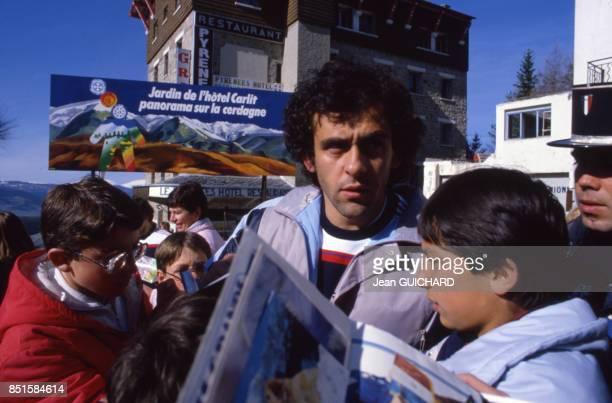 Michel Platini à FontRomeu France le 4 mai 1986