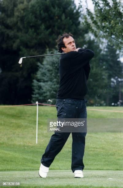 Michel Platini lors du Trophée Lancôme à SaintNomlaBretèche le 16 septembre 1998 France