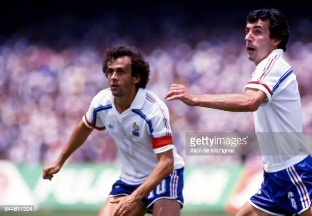 Michel PLATINI / Maxime BOSSIS Italie / France 1/8Finale Coupe du Monde 1986 Photo Alain Martignac / Icon Sport