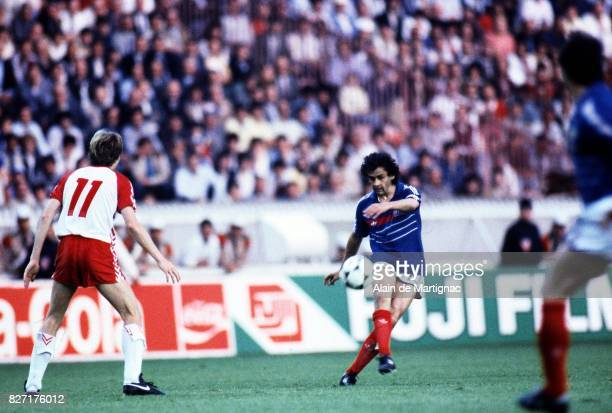 Michel Platini of France during the European Championship match between France and Denmark at Parc des Princes, Paris, France on 12th June 1984