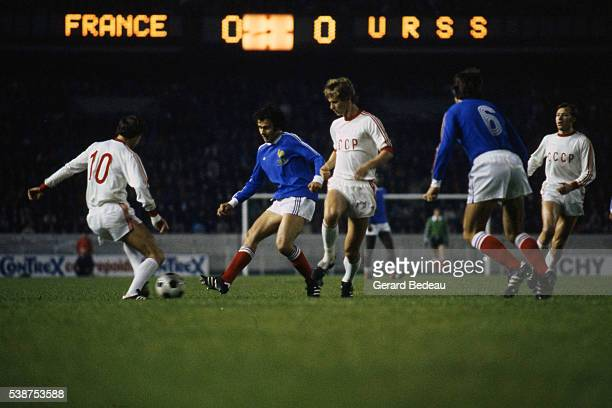 Michel Platini of France during the International Friendly match between France and URSS on 8th October 1977 in Parc des Princes Paris France