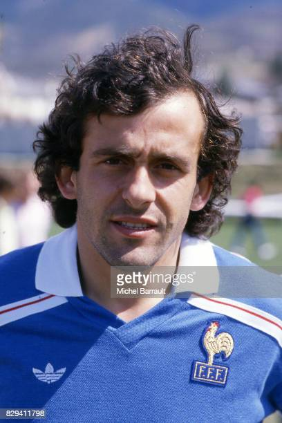 Michel Platini of France during the photoshoot of team France on 30th May 1984 in Paris