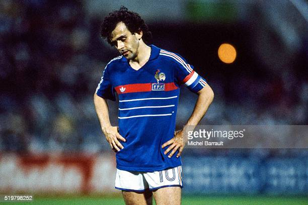 Michel Platini of France during the Semi Final Football European Championship between France and Portugal Marseille France on 23 June 1984