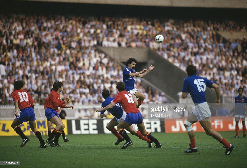 France v Spain - Euro 1984 Final : News Photo