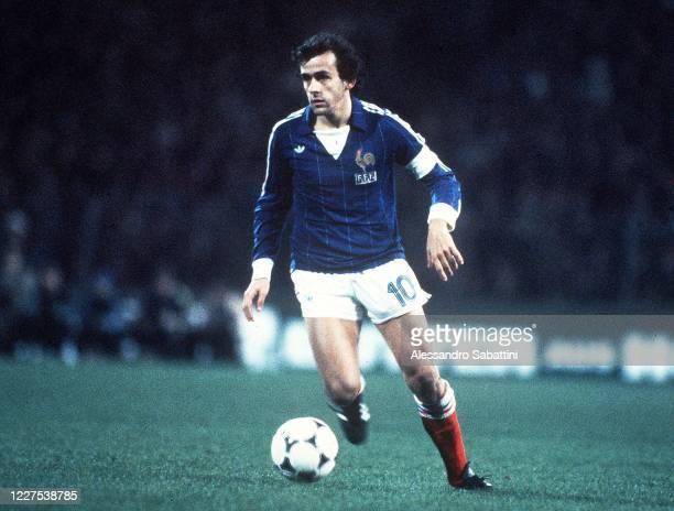 Michel Platini of France in action during the UEFA EURO 1984. France.